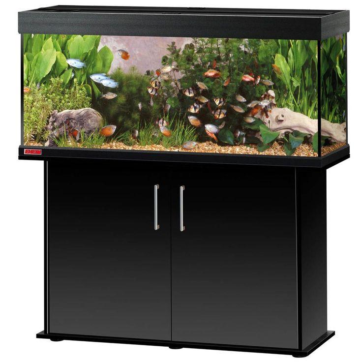 Animalerie  Ensemble aquarium/sous-meuble EHEIM vivaline 240  noir