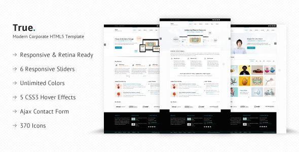 True - Retina Ready Multi Purpose HTML5 Template