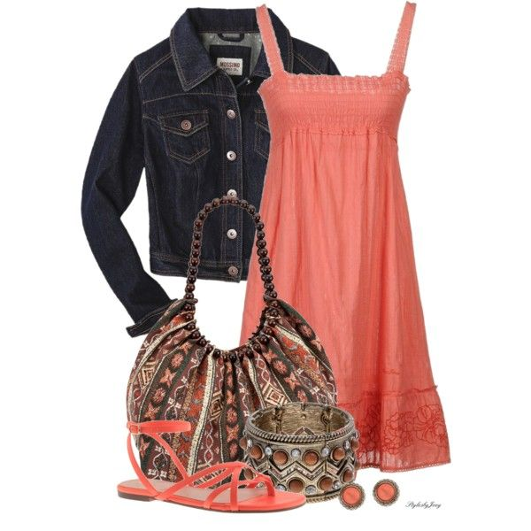 Sun Dress Pink....the dress, the jacket, and a great bag!!