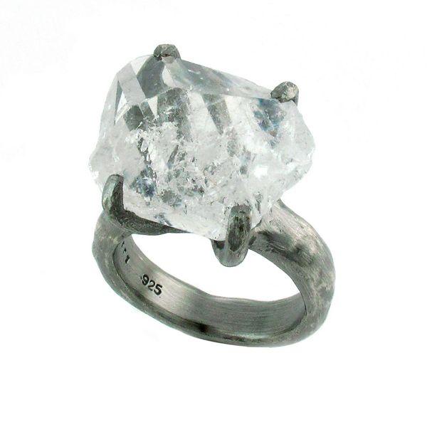 HERKIMER DIAMOND CRYSTAL RING by BJORG
