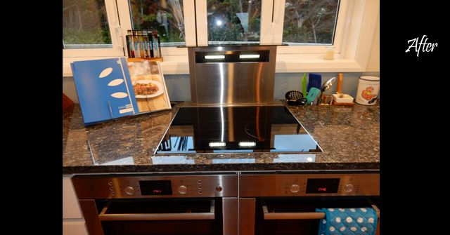 Rimu kitchen with new double ovens