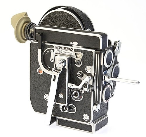 Bolex Rex 3 16mm camera. Awesome camera. Fun to use. One-of-a-kind images. Currently going for $700 on eBay. #film #bolex #vintage #16mm: Vintage Bolex, 16Mm Pro, Bolex Vintage, Film Toys, Film Bolex, Bolex Rex, 16Mm Cameras, Vintage 16Mm, Awesome Cameras