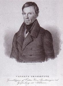 Vincenz Priessnitz, who is generally considered the founder of hydrotherapy. He helped lay the foundation for the Nature Cure movement.