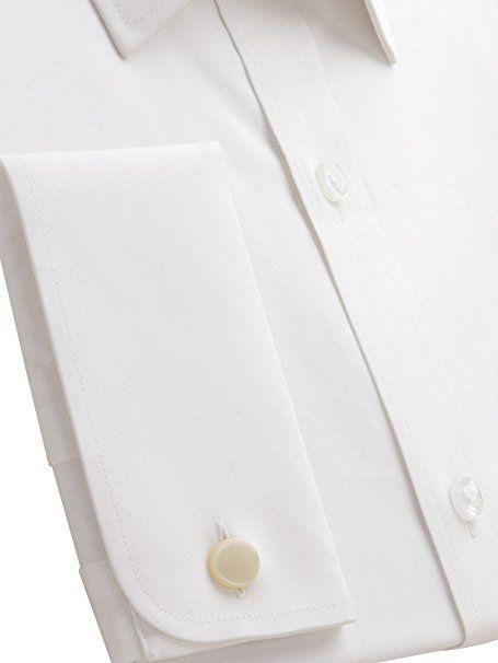 Suit Direct Pierre Cardin White Cotton Double Cuff Shirt - PC400566 Regular Fit Formal Shirt White 14.5: Amazon.co.uk: Clothing