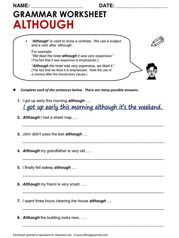 English Grammar Although www.allthingsgrammar.com/although.html