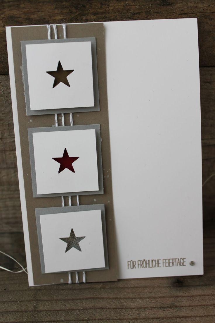 die besten 25 selbstgemachte weihnachtskarten ideen auf. Black Bedroom Furniture Sets. Home Design Ideas