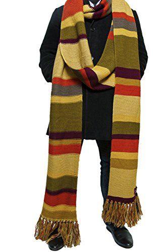 Écharpe Doctor Who – 5,5 m de long saison 16-17 Officielle écharpe du quatrième Doctor de LOVARZI: Réplique indispensable de l'écharpe du…