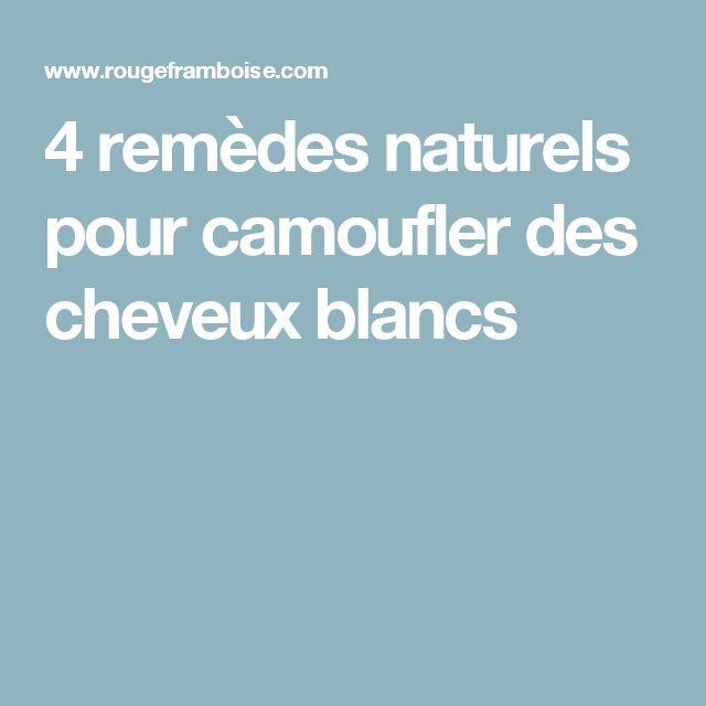 4 remèdes naturels pour camoufler des cheveux blancs