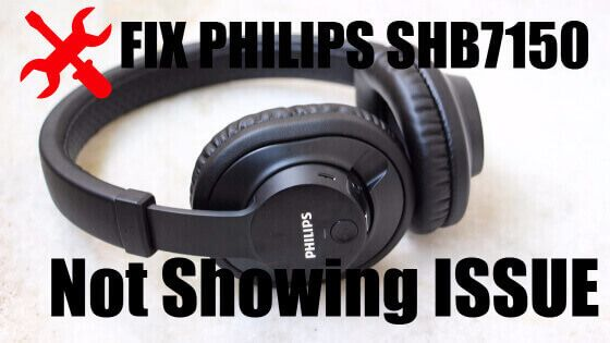 If your Philips SHB7150 wireless Bluetooth headphones is not showing on your phone or Laptop, this is what you should do to fix it.