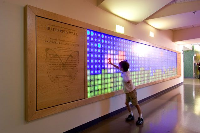 Beautiful, modern, interactive @ Dell Children's Medical Center Donor Wall