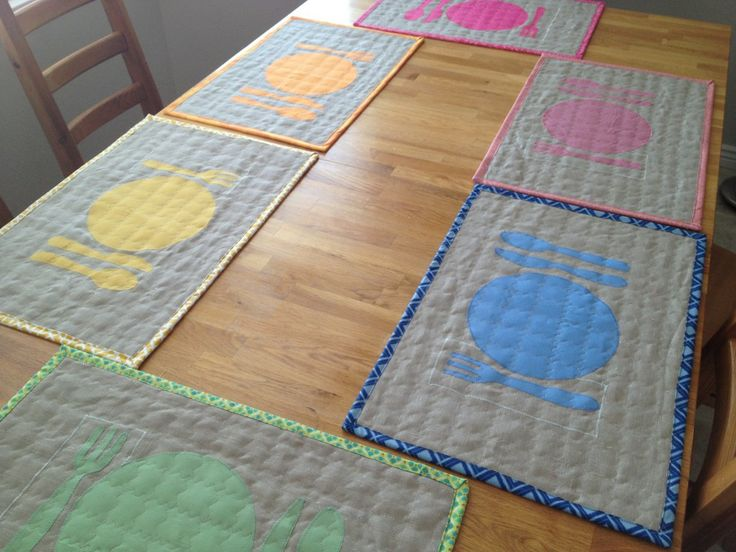 44 Best Images About Quilted Placemats On Pinterest