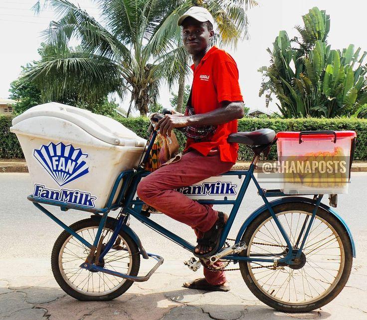 Hawking fan milk, Accra, Ghana More