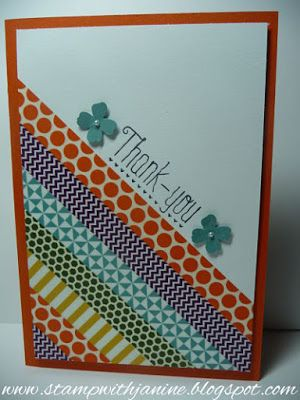 Stampin'Up! Washi Tape card Quick & Easy!