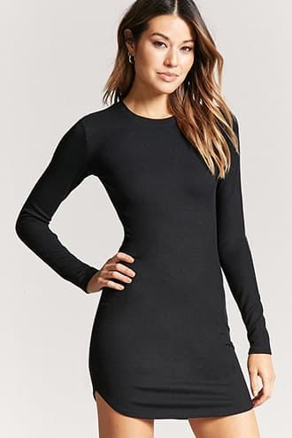 fd98846bb63b0 Ribbed Mini Bodycon Dress #bodycondresscasual | dresses | Pinterest