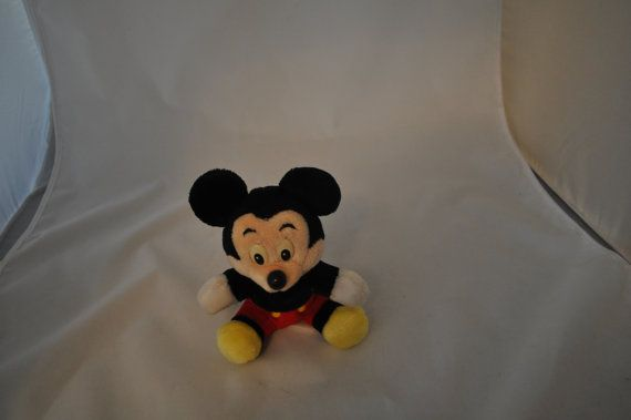 Mickey Mouse Plush Vintage Mickey Mouse Stuffed Toy Walt Disney Mickey Mouse Toy by LeapOfFaithVintage