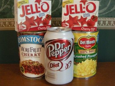 Super easy Jell-O cake using your fave can of soda!