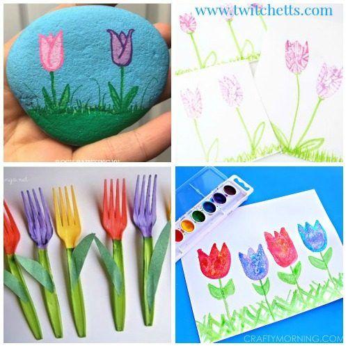 Kids Tulip Art Project