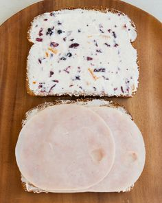 Turkey cranberry tea sandwiches. Made these delicious sandwiches a few times and have been a total win.