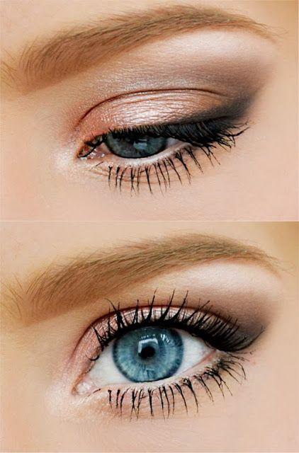 gorgeous natural rose eye make up - great eyeshadow for blue eyes