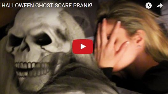 HALLOWEEN GHOST SCARE PRANK! http://justgetideas.com/halloween-ghost-scare-prank/#sthash.lXA3p4GU.dpbs