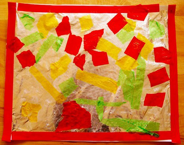 Preschool Art_Foil and Tissue Paper Collage   Childhood 101