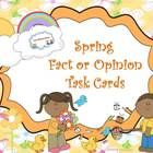 Spring Fact or Opinion Task Cards This spring theme task card will help your student master fact and opinion. I included 20 task cards with respons...