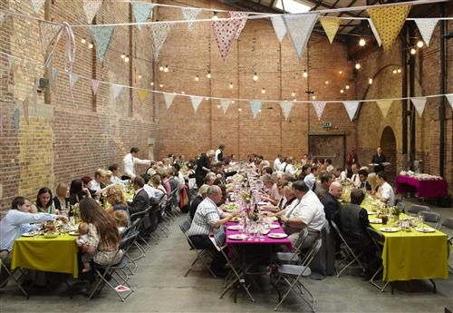 warehouse wedding decorations | Vintage Inspired Thrifty London Warehouse Wedding {2} ~ UK Wedding ...