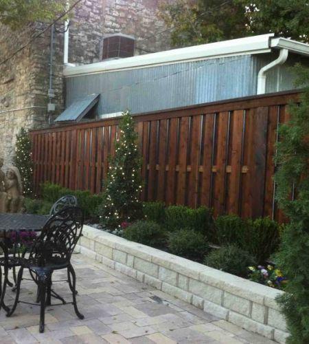 Shadow Box Fence   Rustic Fence