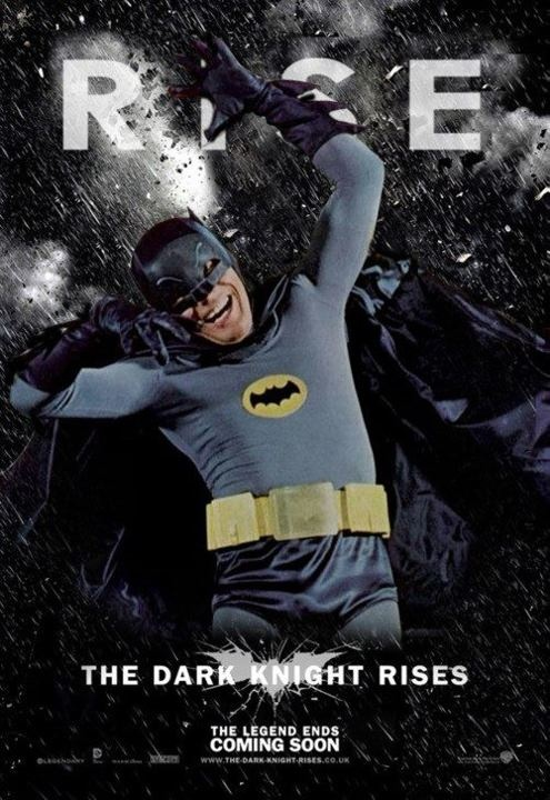 Adam West Rises poster.: Stuff, Knights, West Rises, Adam West, Funny, Movie, Batman, Dark Knight