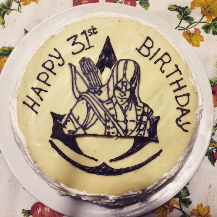 Assassin's Creed Birthday Cake