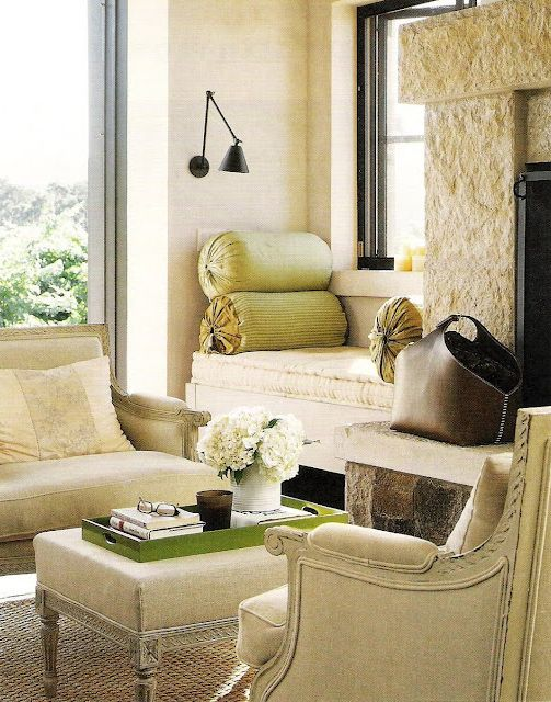 sisal, linen, and a bit of green  What do you think of linen rather than bright white? Soft & calm vs. bright & fresh.  Both are pretty options