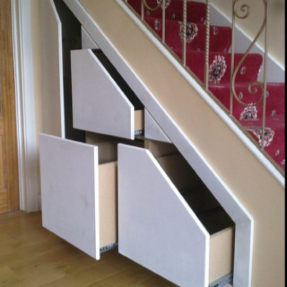 Understair storage, clever idea.