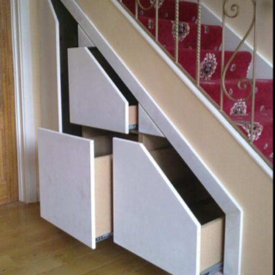 Understair storage, clever idea.