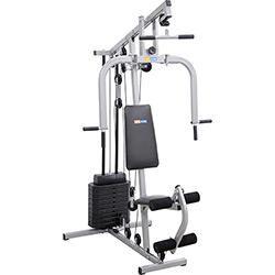 foto: Estação de Musculação Smart 8000 23 Exercícios Cinza e Preto Life Zone