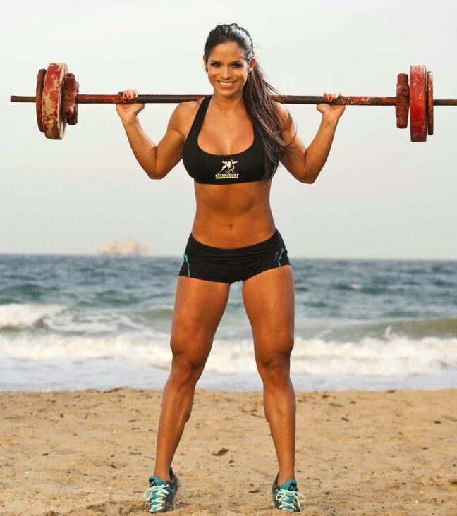 Michelle Lewin; she is so pretty, I want to be built like that