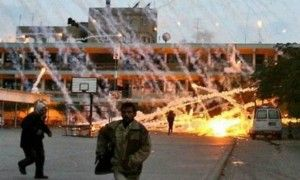 They lied to you about White Phosphorus! This picture is a perfect illustration of how sick Hamas cultists are. The image shows a Hamas smoke mortar shell being deliberately fired at Palestinian civilians in order to blame Israel. The IDF doesn't do this, but Hamas does. And yet the world uses the genuine Hamas war crime to manufacture a fake war-crime charge against Israel, absolving the guilty and framing the innocent.