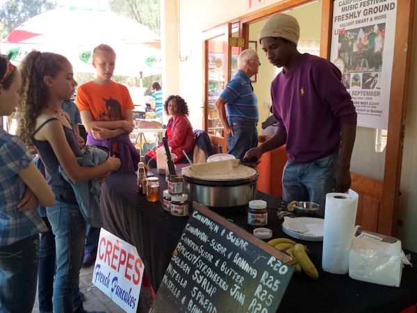 Camphill market pancakes stall, selling delicious crepes with nutella, and a variety of other fillings
