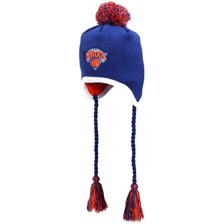 New Era New York Knicks Team-Tone Tassle Knit Hat - Royal Blue - $19.94