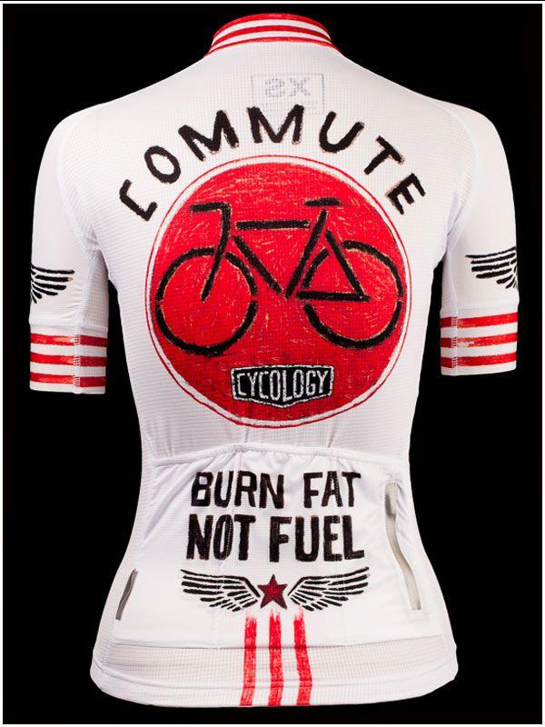 Burn Fat Not Fuel - Cool new cycling jersey from Cycology. All Italian fabrication. FREE SHIPPING WORLDWIDE. #cycling #jerseys