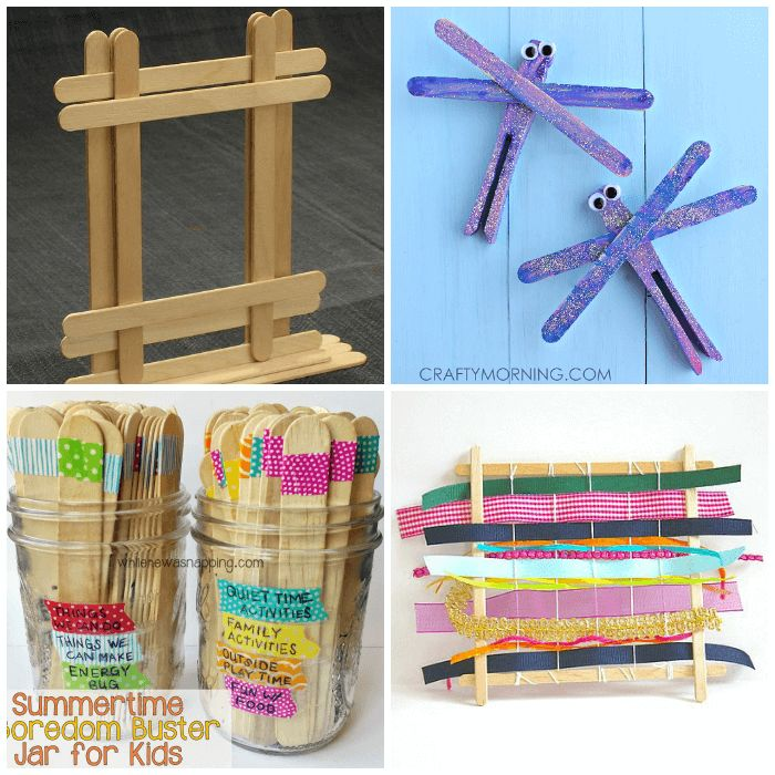 30 creative popsicle stick crafts for kids craft for Designs using ice cream sticks