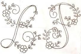 Imagini pentru puntadas para bordar letras a mano