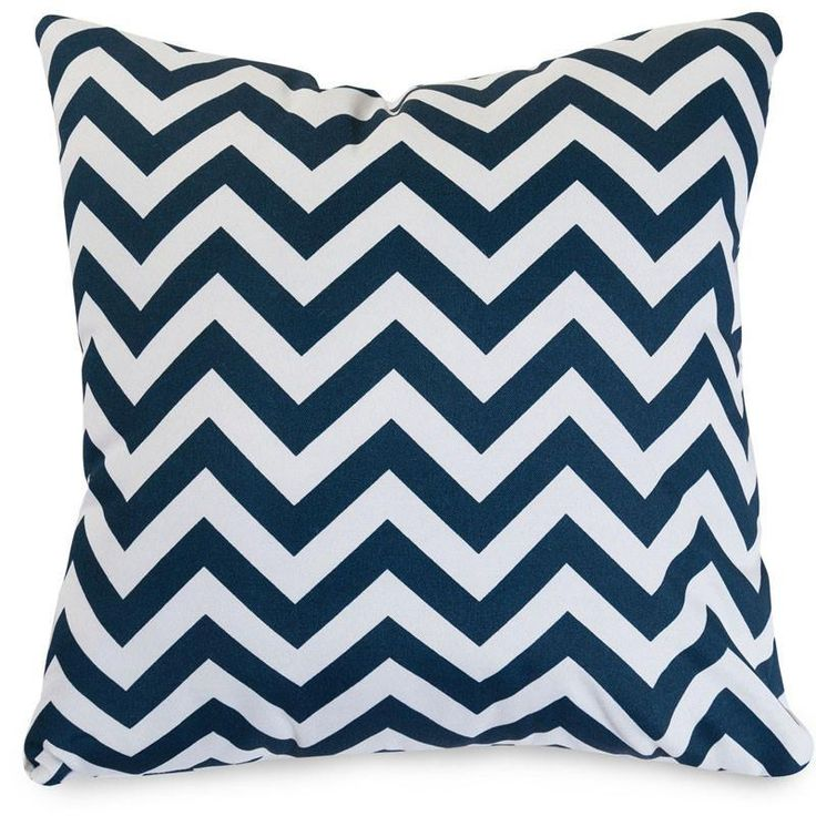 Majestic Home Goods 85907220898 Navy Chevron Large Pillow 20x20