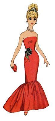 fishtail evening dress. Pattern & instructions