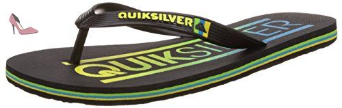 Quiksilver Molokai Wordmar M Sndl Xkky, Tongs homme, Noir (Black/Black/Yellow), 43 EU - Chaussures quiksilver (*Partner-Link)
