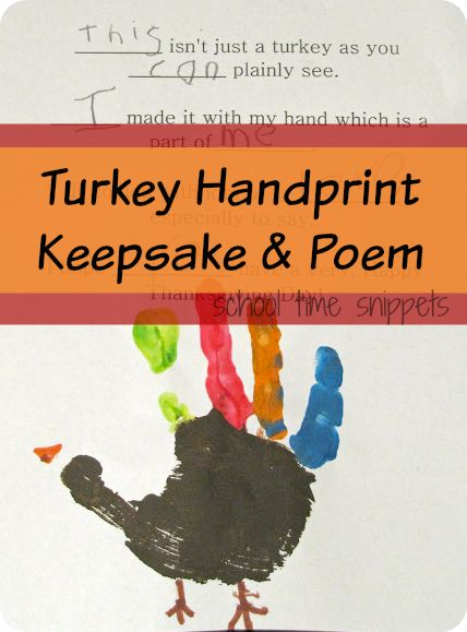 Thanksgiving Handprint Keepsake & Poem-- great idea for handwriting practice!