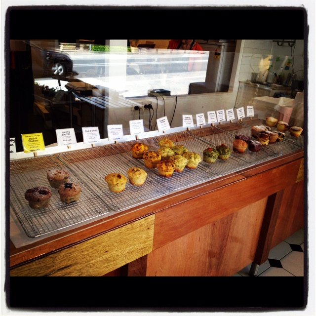 Ragamuffin in Norton St Leichhardt, Sydney. Up to 30 flavours of freshly baked, gluten-free muffins. Was yum!