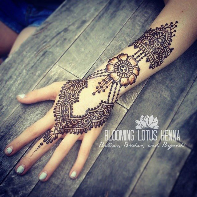 Jewelry Style Focal Flower Henna | www.bloominglotushenna.co… | Flickr