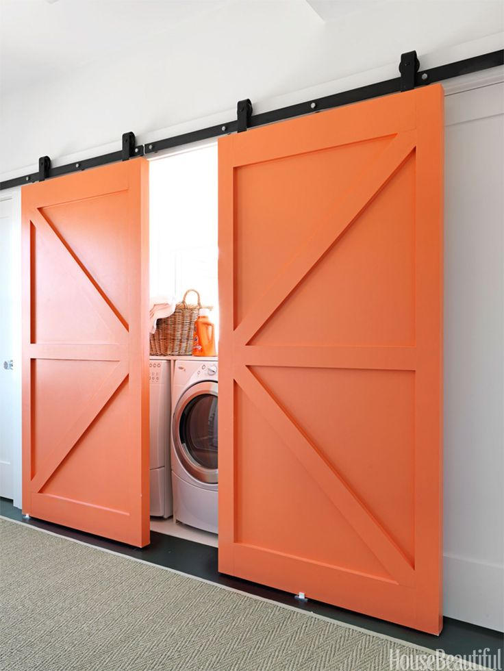 Ooooooh!  Love!  Wonder if I can make this doable with my tired old hallway laundry closet???  10 clever ways to conceal clutter