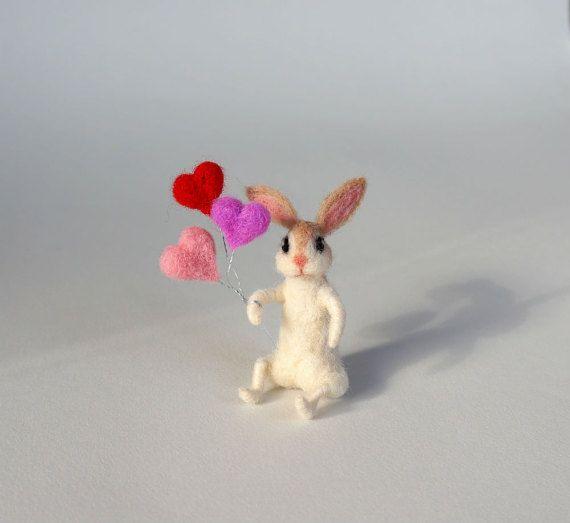 Gefilzt Hase Weiss Hase Nadel Filz Kaninchen Mini Hase Wolle Hase