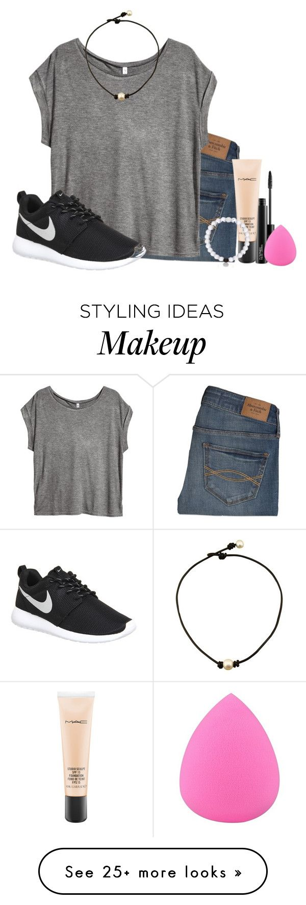 you wanted this, not me. so why keep staring at me? by ellababy13 on Polyvore featuring Abercrombie  Fitch, MAC Cosmetics, HM, Zodaca, NIKE, womens clothing, womens fashion, women, female and woman